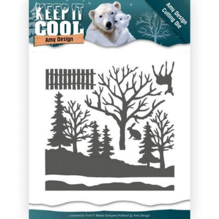ADD10160 ~ Cool Forest die set ~  Keep It Cool  ~ Amy Designs